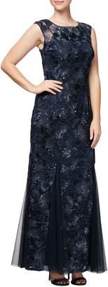 Alex Evenings Soutache & Sequin Gown