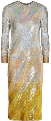 Ashish Sequined Silk-georgette Midi Dress