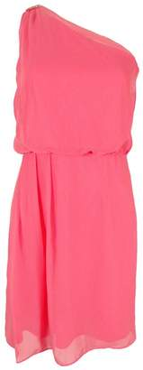 Adrianna Papell Womens Chiffon Embellished Cocktail Dress Pink