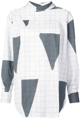 Vivienne Westwood triangle grid pattern reversible shirt