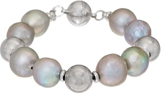 Honora Ming Cultured Pearl Magnetic Bracelet Sterling Silver