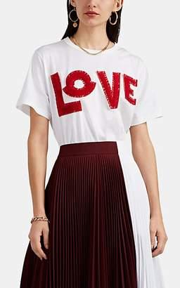 Moncler 2 1952 Women's Love-Appliquéd Cotton T-Shirt - White