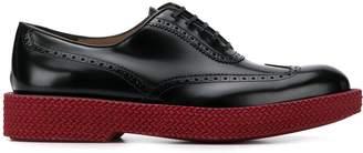 Salvatore Ferragamo contrast sole Oxford shoes