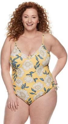 Evri Plus Size EVRI Floral One-Piece Swimsuit