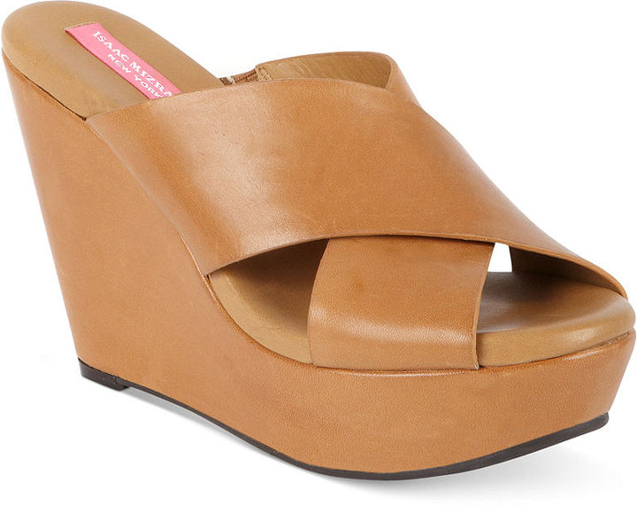 Isaac Mizrahi New York Shoes, Cora Platform Wedge Slide Sandals