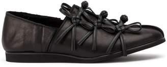 Yohji Yamamoto knotted corded loafers