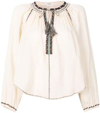 Etoile Isabel Marant embroidered tie-neck blouse