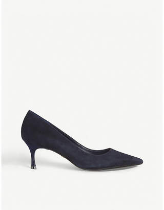 Dune Astley pointed suede court shoes