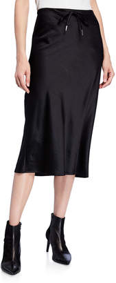 Alexander Wang Wash & Go Woven Drawstring Skirt