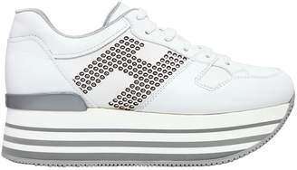 Hogan 70mm Maxi 222 Studded Leather Sneakers