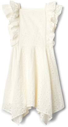 Gap Eyelet Flutter Handkerchief Dress