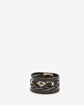 Express Mixed Seed Turnlock Cuff Bracelet