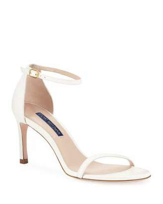 Stuart Weitzman Nudist 80 Leather Naked Sandals