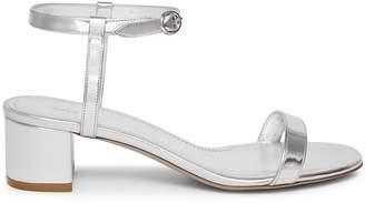 Mansur Gavriel Lamb Ankle Strap Sandal - Silver