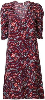 See by Chloe floral print ruched sleeves dress