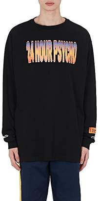 "Heron Preston Men's ""24 Psycho"" Cotton T-Shirt"