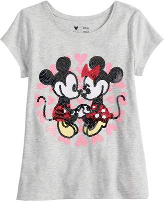Disneyjumping Beans Disney's Mickey & Minnie Mouse Girls 4-10 Sequined Graphic tee by Jumping Beans