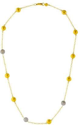 Gurhan Diamond Mini Lentil Ice Three Station Necklace