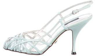 Dolce & Gabbana Patent Leather Slingback Sandals