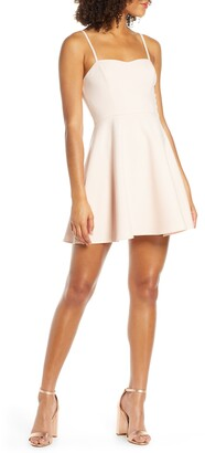 French Connection Sweetheart Neck Fit & Flare Minidress