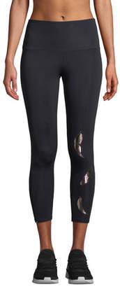 Onzie High-Rise Foil Feather Midi Yoga Leggings