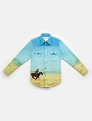 Calvin Klein landscape western shirt