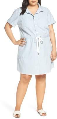 Lucky Brand Stripe Utility Dress