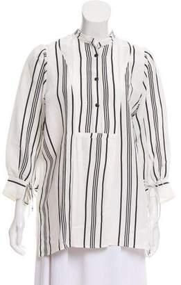 Apiece Apart Linen Long Sleeve Tunic