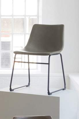 Next Set Of 2 Wyatt Faux Leather Monza Grey Dining Chairs