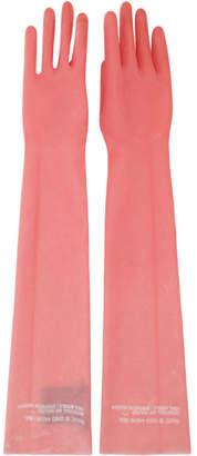 Calvin Klein Pink Rubber Gloves