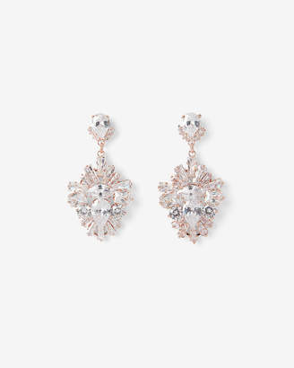 Express Cubic Zirconia Trapezoid Drop Earrings