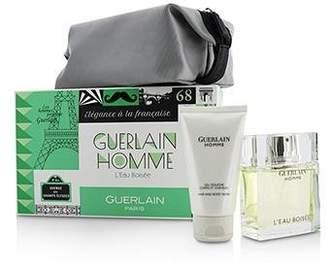 Guerlain Homme LEau Boisee Coffert: Eau De Toilette Spray 80ml + Hair and Body Wash 75ml + pouch