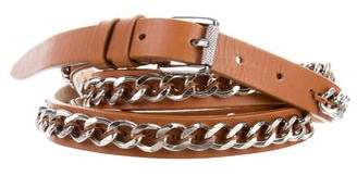 Barbara Bui Chain-Link Leather Wrap Belt