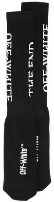 Off-White ribbed socks $74 thestylecure.com