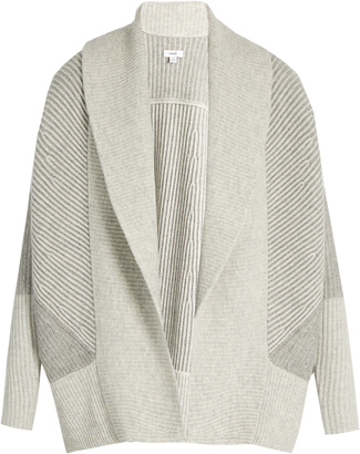 VINCE Shawl-collar wool and cashmere-blend cardigan $425 thestylecure.com