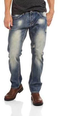 Gs115 Men's Straight Fit Jeans with Thick Stitch Detail