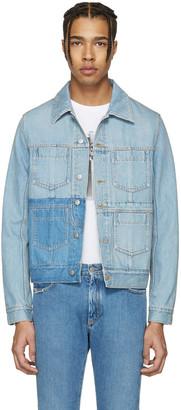 Maison Margiela Blue Double Denim Jacket $1,065 thestylecure.com
