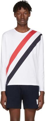 Thom Browne White Stripes Pocket T-Shirt $520 thestylecure.com