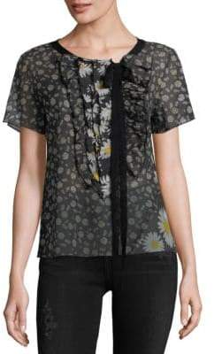 Marc Jacobs Floral Frill Cotton Top