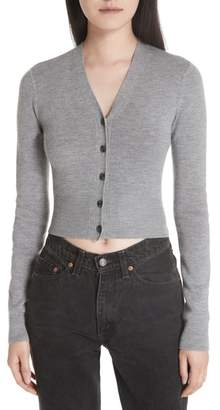Alexander Wang Twist Back Merino Wool Crop Sweater