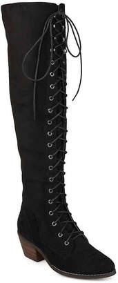 Journee Collection Bazel Wide Calf Over The Knee Combat Boot - Women's