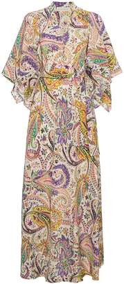 Etro floral printed silk maxi dress