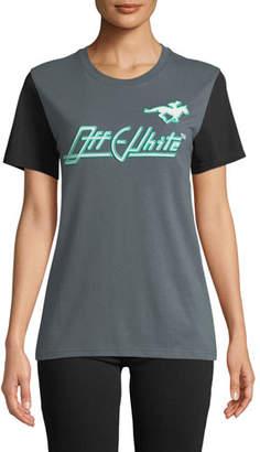 Off-White Embellished Graphic Crewneck Sweatshirt