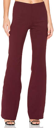 Theory Demitria Flare Pant in Burgundy $355 thestylecure.com