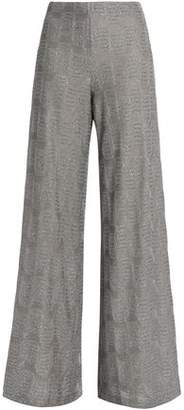 M Missoni Metallic Knitted Wide-Leg Pants