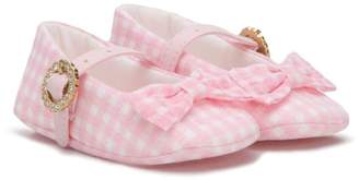 Miss Blumarine gingham check ballerinas