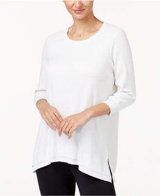 Style&Co. Style & Co Layered-Hem Top