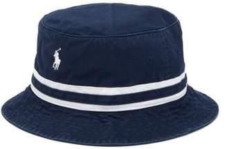 Polo Ralph Lauren Logo Embroidered Cotton Twill Bucket Hat - Mens - Navy