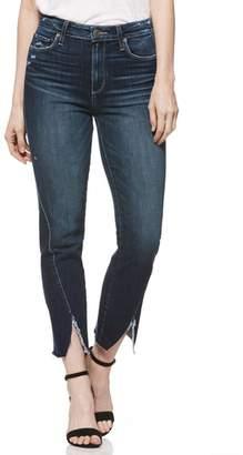 Paige Transcend Vintage - Skyline Twist Hem Ankle Straight Leg Jeans
