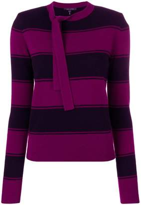 Marc Jacobs striped tie-neck sweater